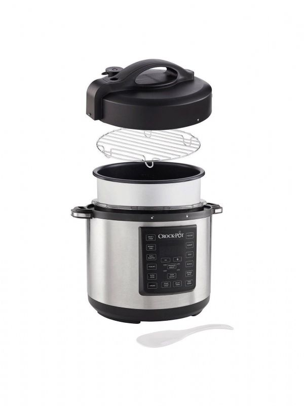 Crock-Pot CSC051 Express Pressure & Multi-Cooker, 5.6L, Stainless Steel